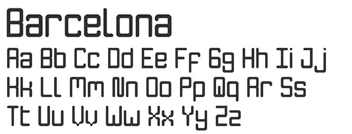 Barcelona - Fontstruct