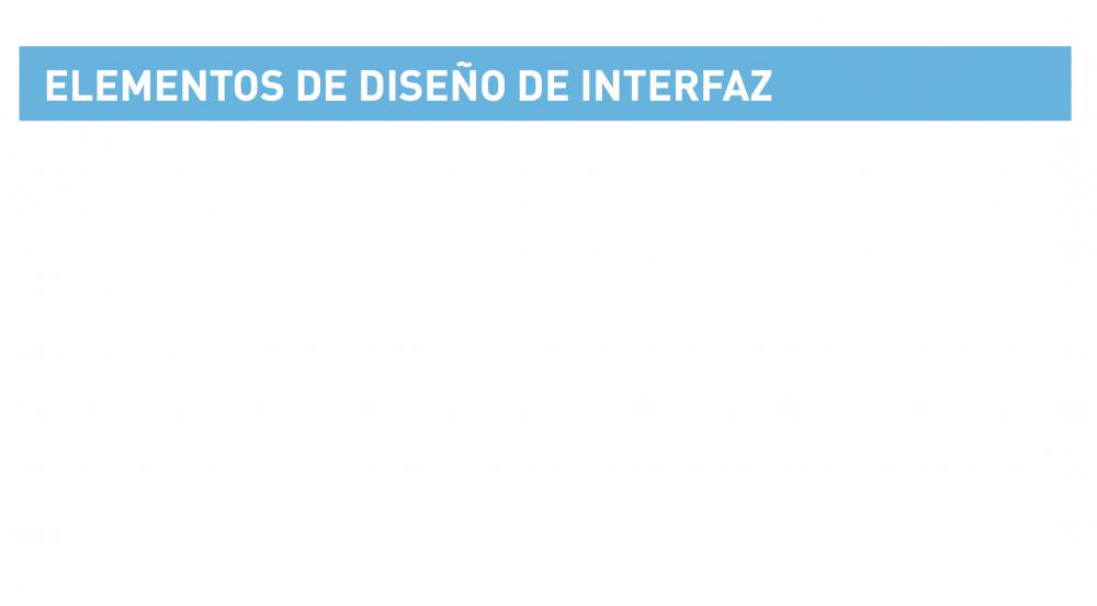 Elementos de Diseño de Interfaz